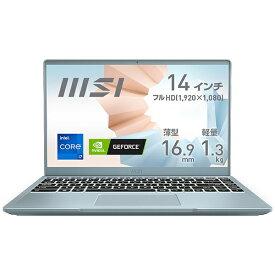 MSI エムエスアイ ノートパソコン Modern 14 B11S ブルーストーン Modern-14-B11SB-030JP [14.0型 /intel Core i7 /メモリ:16GB /SSD:512GB /2020年11月モデル]