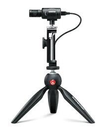 SHURE シュアー デジタルステレオコンデンサーマイクロフォン+ビデオアクセサリー MV88+DIGVIDKIT