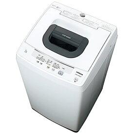 日立 HITACHI 全自動洗濯機 ピュアホワイト NW-50F-W [洗濯5.0kg /乾燥機能無 /上開き][洗濯機 5kg]