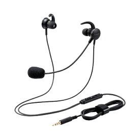 エレコム ELECOM ヘッドセット ブラック HS-EP15TBK [φ3.5mmミニプラグ /両耳 /イヤホンタイプ]
