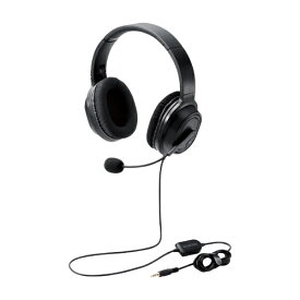エレコム ELECOM ヘッドセット ブラック HS-HP30TBK [φ3.5mmミニプラグ /両耳 /ヘッドバンドタイプ]