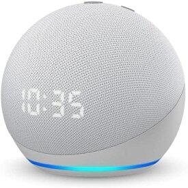 Amazon アマゾン Echo Dot (エコードット) 第4世代 - 時計付きスマートスピーカー with Alexa グレーシャーホワイト B084J4TR39 [Bluetooth対応 /Wi-Fi対応]