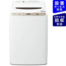 シャープ SHARP 全自動洗濯機 ブラウン系 ES-GE6E-T [洗濯6.0kg /乾燥機能無 /上開き]