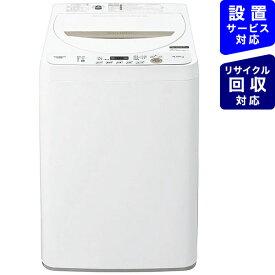 シャープ SHARP 全自動洗濯機 ベージュ系 ES-GE4E-C [洗濯4.5kg /乾燥機能無 /上開き]