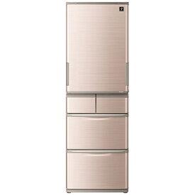シャープ SHARP 冷蔵庫 ブラウン系 SJ-W413G-T [5ドア /左右開きタイプ /412L]《基本設置料金セット》
