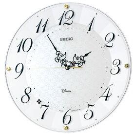 セイコー SEIKO 掛け時計 【大人ディズニー ミッキー&ミニー】 白パール FS513W [電波自動受信機能有]