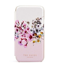 Ted Baker テッドベーカー Ted Baker - Folio Case for iPhone 12mini [ Jasmine Pink Cream Rose Gold ] 80488 Folio Case iPhone12mini