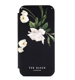 Ted Baker テッドベーカー Ted Baker - Folio Case for iPhone 12 Pro [ Elderflower Black Silver ] 80556 Folio Case iPhone 12 Pro