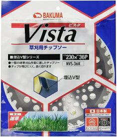 バクマ工業 BAKUMA INDUSTRIAL バクマ 草刈チップソー 軽量ビスタ バクマ NVS-36K