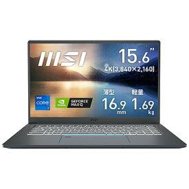 MSI エムエスアイ Prestige-15-A11SCS-032JP ノートパソコン Prestige 15 A11(4K) カーボングレイ [15.6型 /intel Core i7 /SSD:1TB /メモリ:32GB /2020年11月モデル]