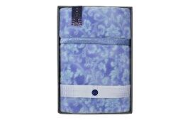 西川 NISHIKAWA 【風雅の都】ニューマイヤー毛布ブルー(140×200cm)
