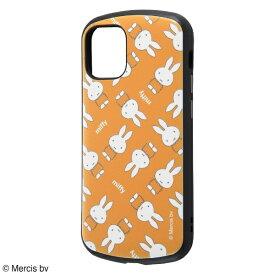 イングレム Ingrem iPhone 12 mini 5.4インチ対応 『ミッフィー』/耐衝撃ケース MiA/『オレンジ/ミッフィー総柄』 IN-BP26AC4/MFB1 『オレンジ/ミッフィー総柄』