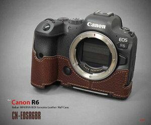 リムズ LIM'S キヤノン EOS R6用 本革カメラハーフケース ブラウン CN-EOSR6BR