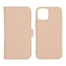 ラスタバナナ iPhone 12/12 Pro 6.1インチ対応 2WAY手帳ケース SMG ライトピンク×ホワイト 5796IP061BO
