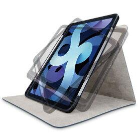 エレコム ELECOM 10.9インチ iPad Air(第4世代)用 フラップケース 360度回転/Pencil収納/スリープ対応 ネイビー TB-A20MSA360NV