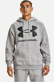 アンダーアーマー UNDER ARMOUR メンズ トレーニング UAライバルフリース ビッグロゴ フーディー(LGサイズ/Mod Gray Light Heather×Black)1357093