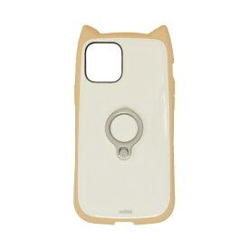 ラスタバナナ RastaBanana iPhone 12 mini 5.4インチ対応 mimi RING ベージュ×ホワイト 5645IP054HB