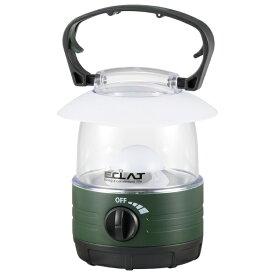 オーム電機 OHM ELECTRIC ECLAT無段階調光LEDランタン 70lm LN-07B7-G [LED /単3乾電池×4]