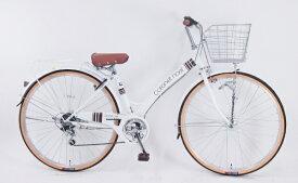 サイモト自転車 SAIMOTO 自転車 コロネットノエル ホワイト CA_W276BK_HD_BAA_C [27インチ(耐摩耗リムセーバータイヤ) /外装6段 /27インチ]【組立商品につき返品不可】 【代金引換配送不可】