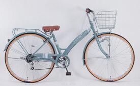 サイモト自転車 SAIMOTO 27型 自転車 コロネットノエル(グレー/外装6段変速) CA_W276BK_HD_BAA_C【2021年モデル】【組立商品につき返品不可】 【代金引換配送不可】