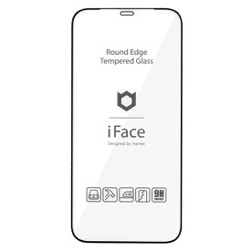 HAMEE ハミィ [iPhone 12/12 Pro専用]iFace Round Edge Tempered Glass Screen Protector ラウンドエッジ強化ガラス 画面保護シート 41-890295 ブラック