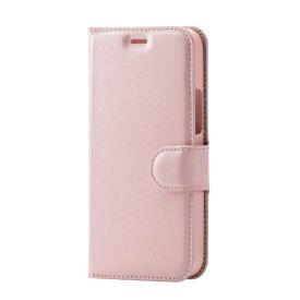 エレコム ELECOM iPhone 12 mini レザーケース 手帳型 UltraSlim 薄型 磁石付き ステッチ 抗菌 ピンク PM-A20APLFUPVPN