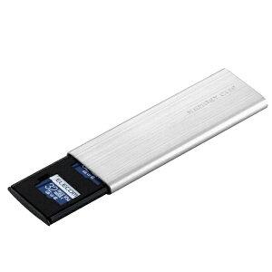エレコム ELECOM メモリカードケース microSD アルミタイプ スライドオープン式 Sサイズ CMC-SDCAL03SV