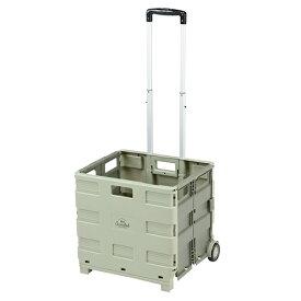 BUNDOK バンドック BOXキャリーカート(約455×380×980mm/カーキ) BD-318KA