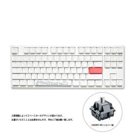DUCKY ダッキー Cherry シルバー軸 英語配列 メカニカルキーボード One 2 TKL RGB Cherry シルバー軸(英語配列) Pure White dk-one2-rgb-tkl-pw-silver [USB /有線]