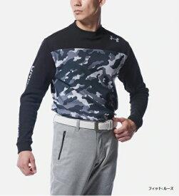 アンダーアーマー UNDER ARMOUR メンズ ロングTシャツ UAコールドギア クルー シャツ カモ UA CG Crew Shirt Camo(LGサイズ/Black×Mod Gray)1358628 001