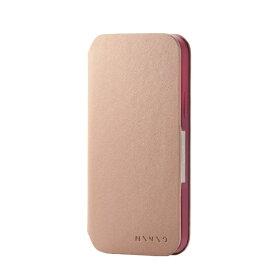 エレコム ELECOM iPhone 12 iPhone 12 Pro レザーケース 手帳型 MINIO ソフトテラコッタ×ワインレッド PM-A20BPLFMINBR
