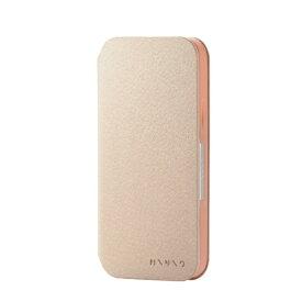 エレコム ELECOM iPhone 12 iPhone 12 Pro レザーケース 手帳型 MINIO フレッシュバニラ×アプリコットオレンジ PM-A20BPLFMINVA
