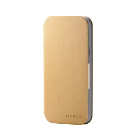 エレコム ELECOM iPhone 12 iPhone 12 Pro レザーケース 手帳型 MINIO ライオンイエロー×スレートグレー PM-A20BPLFMINYL