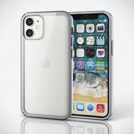 エレコム ELECOM iPhone 12 mini ハイブリッドケース 360度保護 ガラス メタリック シルバー PM-A20AHV360HSV