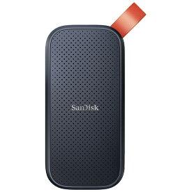 サンディスク SanDisk SDSSDE30-2T00-J25 外付けSSD USB-A接続 ブラック/オレンジ [ポータブル型 /2TB]