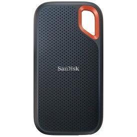 サンディスク SanDisk SDSSDE61-1T00-J25 外付けSSD USB-C+USB-A接続 エクストリーム V2 [1TB /ポータブル型]