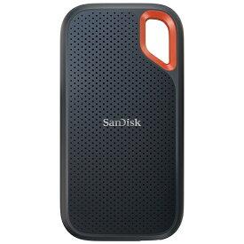 サンディスク SanDisk SDSSDE61-2T00-J25 外付けSSD USB-C+USB-A接続 エクストリーム V2 ブラック/オレンジ [ポータブル型 /2TB]