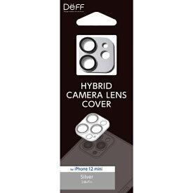 DEFF ディーフ アルミ&ガラスの堅牢仕様 HYBRID CAMERA LENS COVER for iPhone 12 mini 【カメラレンズカバー】 DG-IP20SGA2SV シルバー
