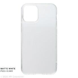 アピロス apeiros CRYSTAL ARMOR HEXAGON MATTE WHITE iPhone 12 mini 5.4インチ対応