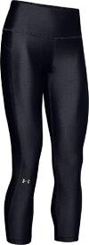 アンダーアーマー UNDER ARMOUR レディース レギンス UAヒートギアアーマー ハイライズ アンクルクロップ UA HeatGear Armour Ankle Crop(XLサイズ/Black×Black×Metallic Silver)1352538