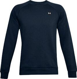 アンダーアーマー UNDER ARMOUR メンズ トレーニングシャツ UAライバルフリース クルー(MDサイズ/Academy×Onyx White) 1357096 408