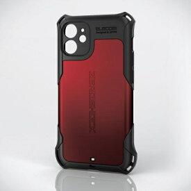 エレコム ELECOM iPhone 12 mini ハイブリッドケース ZEROSHOCK 超極み レッド PMCA20AZEROKRD