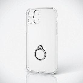 エレコム ELECOM iPhone 12 Pro ハイブリッドケース 超極み リング付き クリア PMCA20DHVCKKRCR