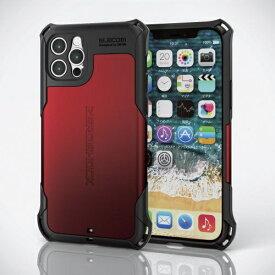 エレコム ELECOM iPhone 12 Pro ハイブリッドケース ZEROSHOCK 超極み レッド PMCA20DZEROKRD