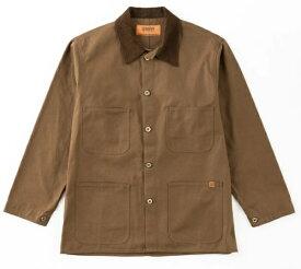 UNIVERSAL OVERALL ユニバーサルオーバーオール メンズ ジャケット CORDURY COLLAR COVERALL(Sサイズ/ライトブラウン)U7434231【rb_outdoor】