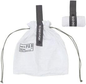 CREER パッカブル パラシュートナイロンバッグ PACKABLE PARACHUTE NYLON BAG(W300×H390mm/ホワイト) 982140007