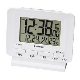 LANDEX ランデックス 目覚し時計 フィットパルライト YT5279WH