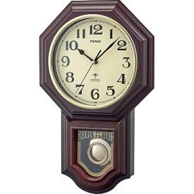 ノア精密 NOA 電波掛時計 ブラウン W-640 BR [電波自動受信機能有]