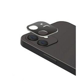 エレコム ELECOM iPhone 12 カメラレンズカバー ハイブリッド アルミ ガラス シルバー×ブラック PM-A20BFLLP3SV