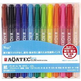 寺西 Teranishi Chemical Industry マジックアクアテックスリム12色セット MAQ70C-12